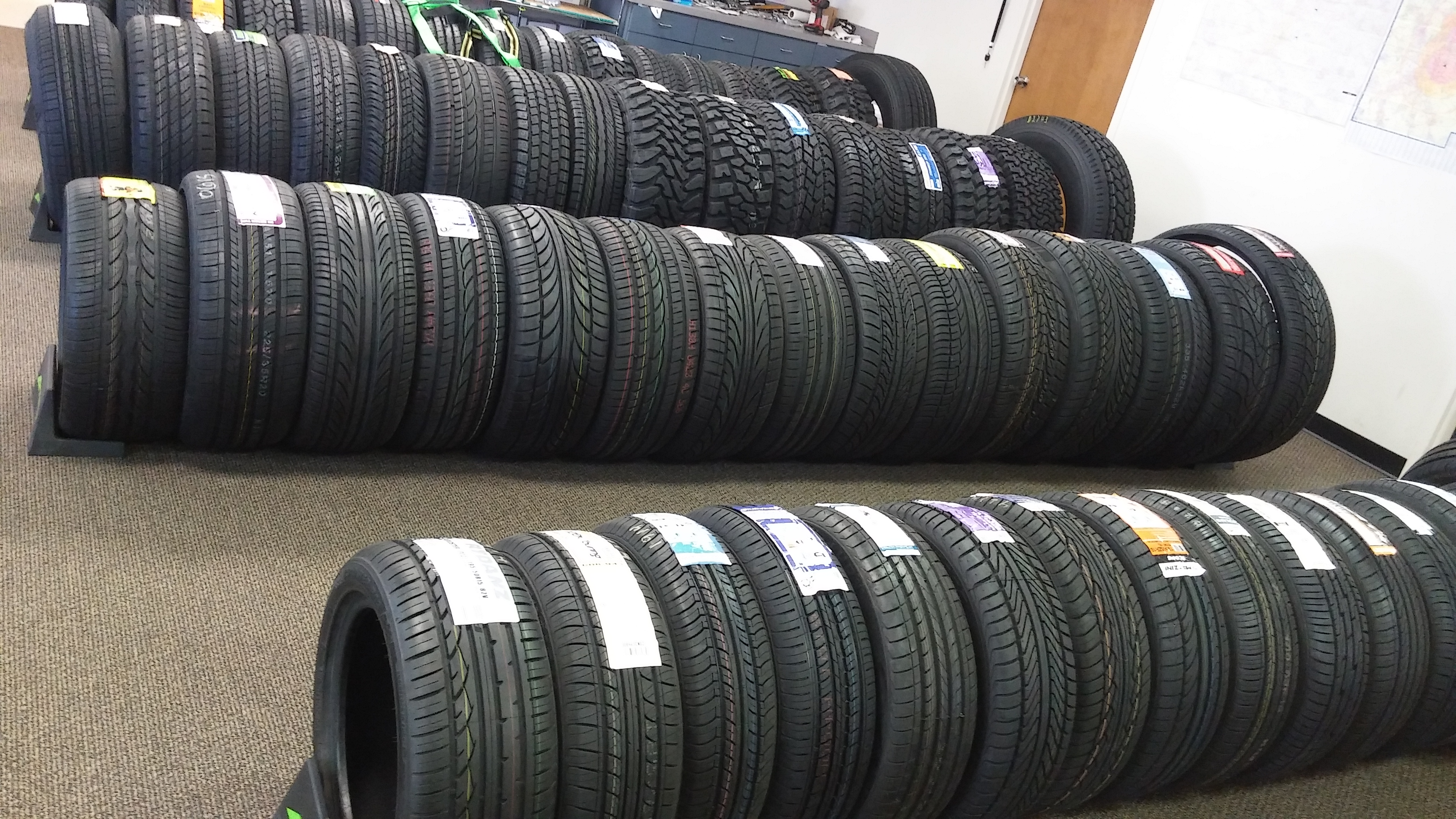 New tires sales, service and repair
