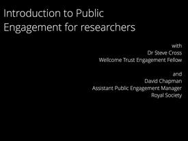 Public Engagement Course