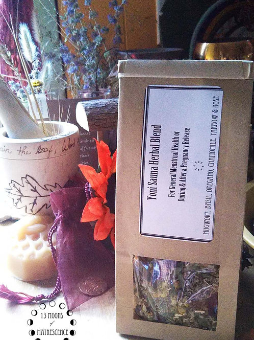 Yoni Sauna Herbal Blend: General Health or Post-Pregnancy Release || 1 oz.