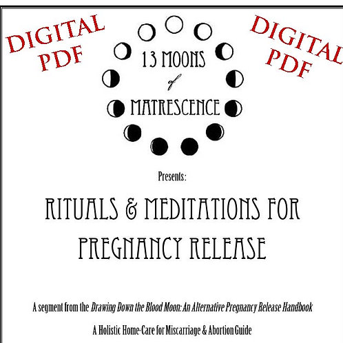 Rituals & Meditations for Pregnancy Release Handbook DIGITAL PDF