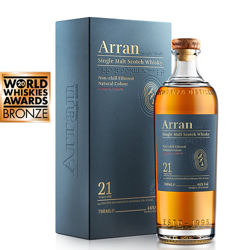 Arran Single Malt 21 Year-old Whisky  46%  700ml