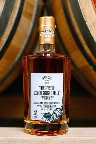 Trebitsch Czech Single Malt Whisky Double Age Premium Cognac 500ml  40%