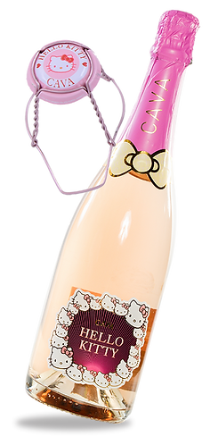 Hello Kitty Cava Rosat semi-sec NV, Spain 吉蒂貓品牌汽泡酒 (西班牙)