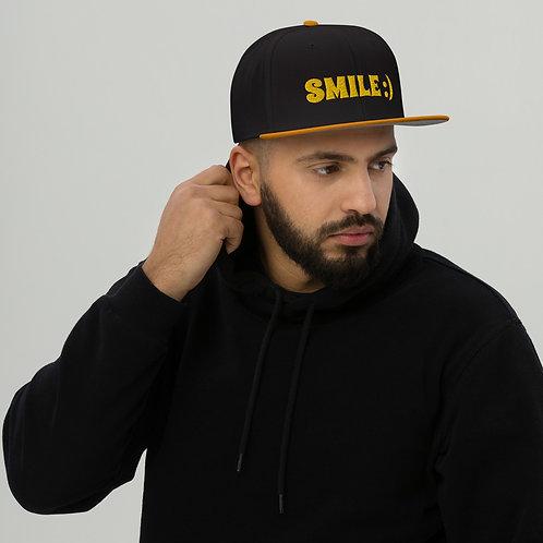 Smile Snapback Cap