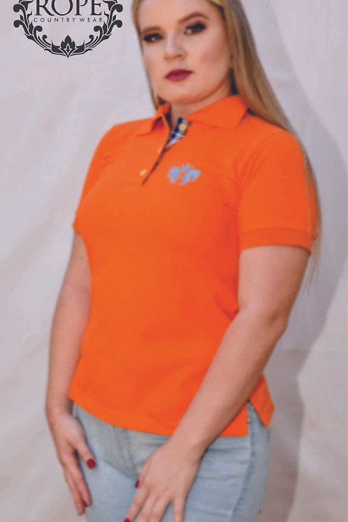 Camisa Polo Feminina - Orange