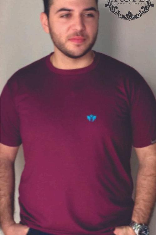 T-shirt Masc Bordada - Bordo