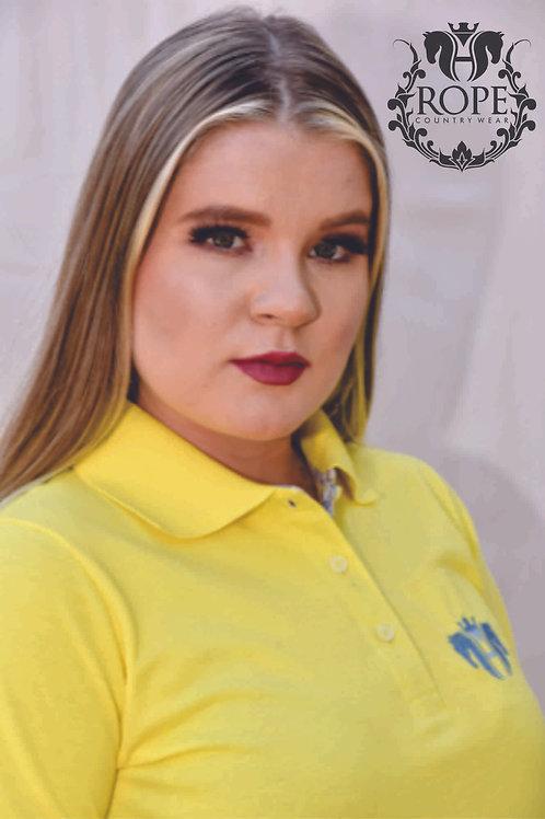 Camisa Polo Feminina - Canário