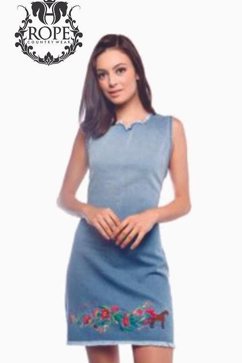Vestido Jeans Florinea Escaramuça 6F8434