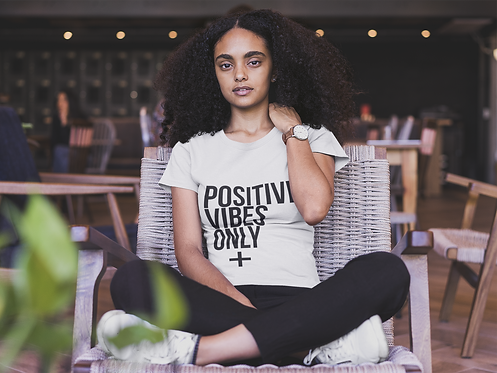 Positive Vibes Only Tee (White)