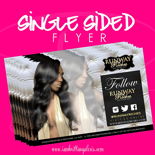 Single Sided Flyer