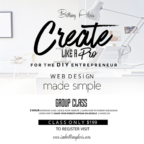 Create Like a Pro Group Hands on Class