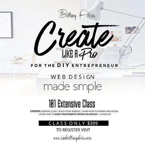 Create Like a Pro 101 Hands on Class