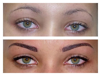 Maquillage semi-permanent - yeux - exemple