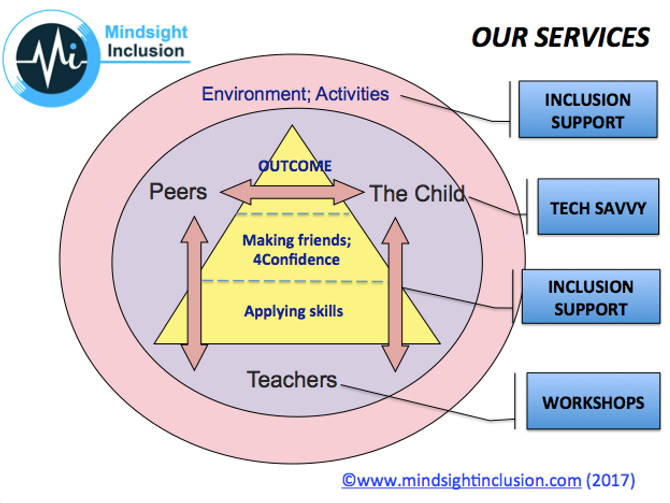Mindsight Inclusion offers inclusion support,tech-savvy programme, and training workshps.