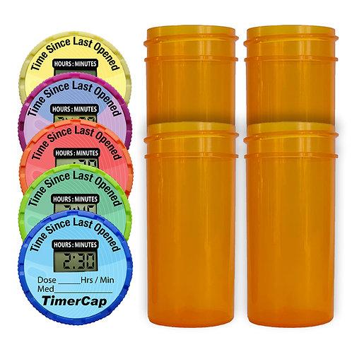 Standard Bottle Kit - Replaceable Battery - 4 Pack