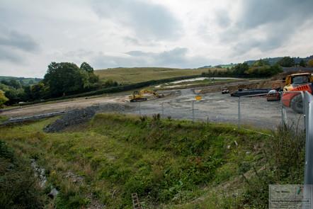 Newtown bypass Garthowen roundabout