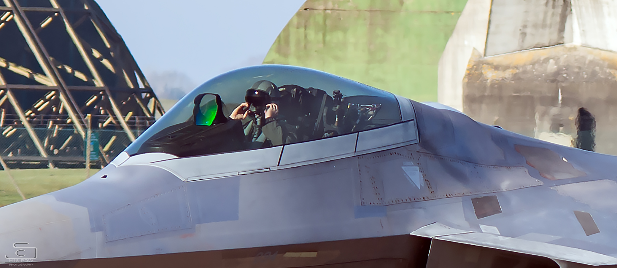 F22 Raptor Lakenheath cockpit shot