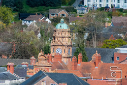 Newtown Powys Town Clock From Above