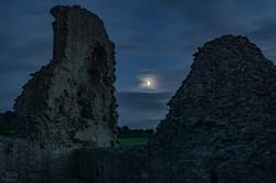 Montgomery Castle moon shot.