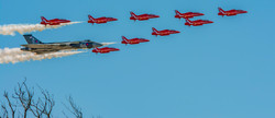 Red arrows with Vulcan