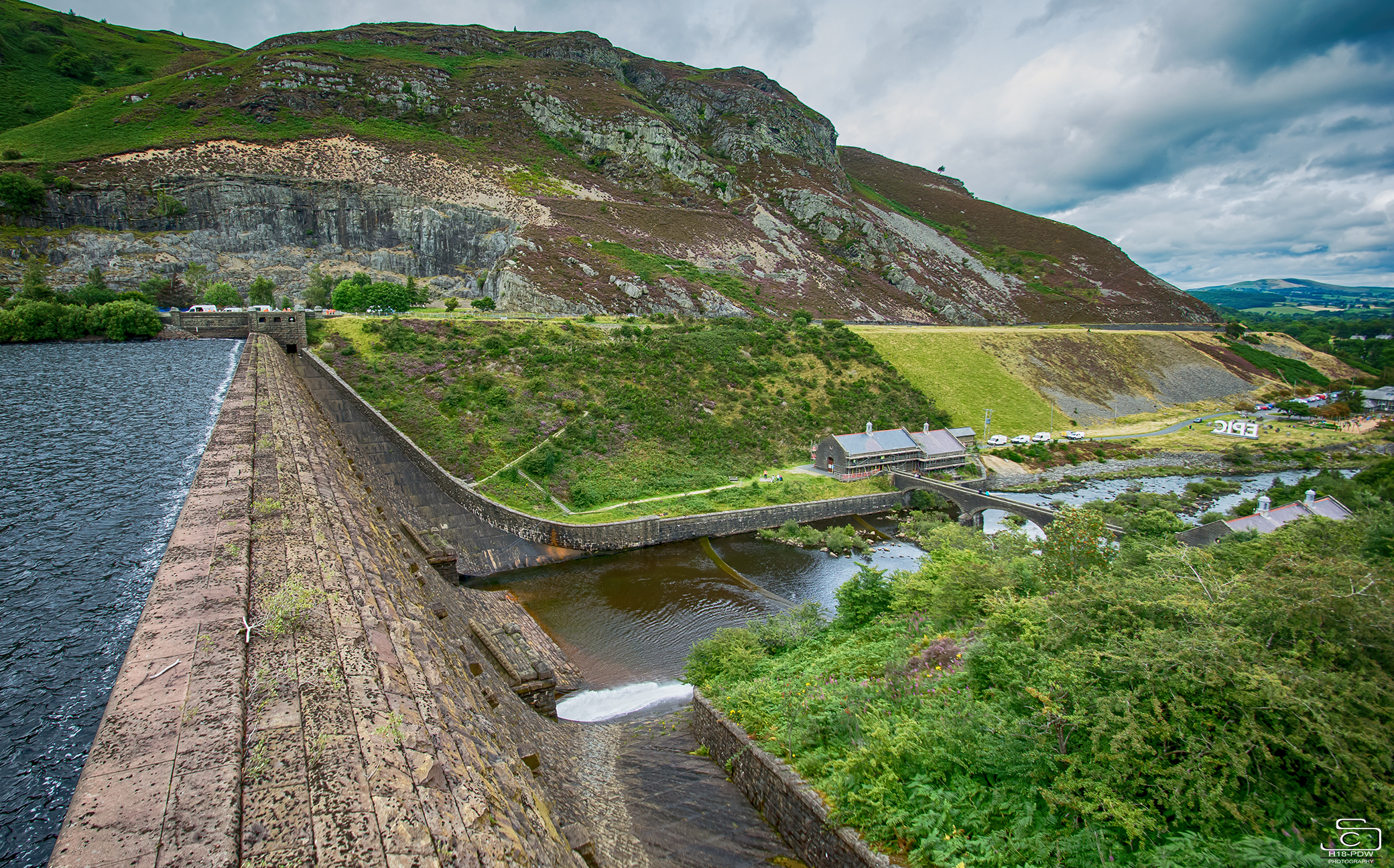 Epic Elan Valley from the dam.