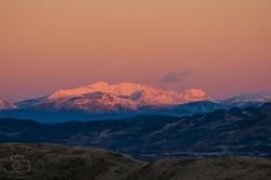 Snowdon Sunrise With Snow