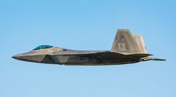 F22 Raptor Lakenheath in flight