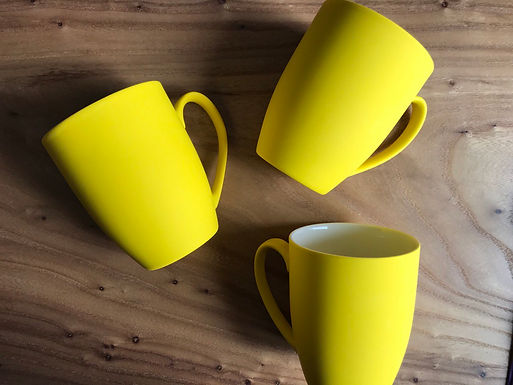 Желтая кружка