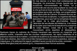 Arts Magazine Anne Lamalle