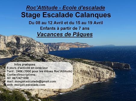 Stage Pâques escalade Calanque Marseille