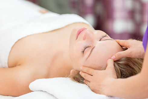 Head, Neck and Scalp Massage, addressing tight necks and shoulders.