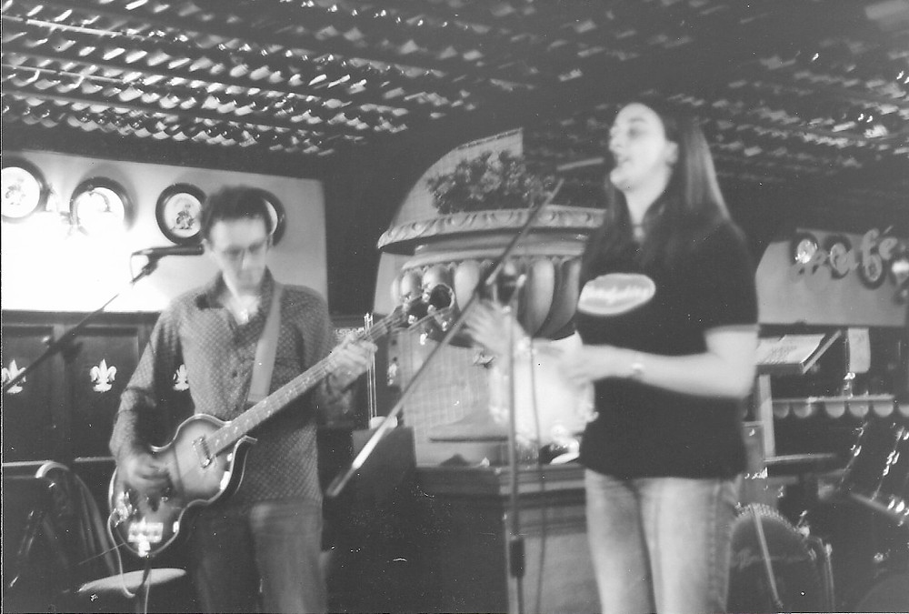Performing with The Dandelions in Gloucester, circa 2001