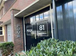 PDQR deurbelettering