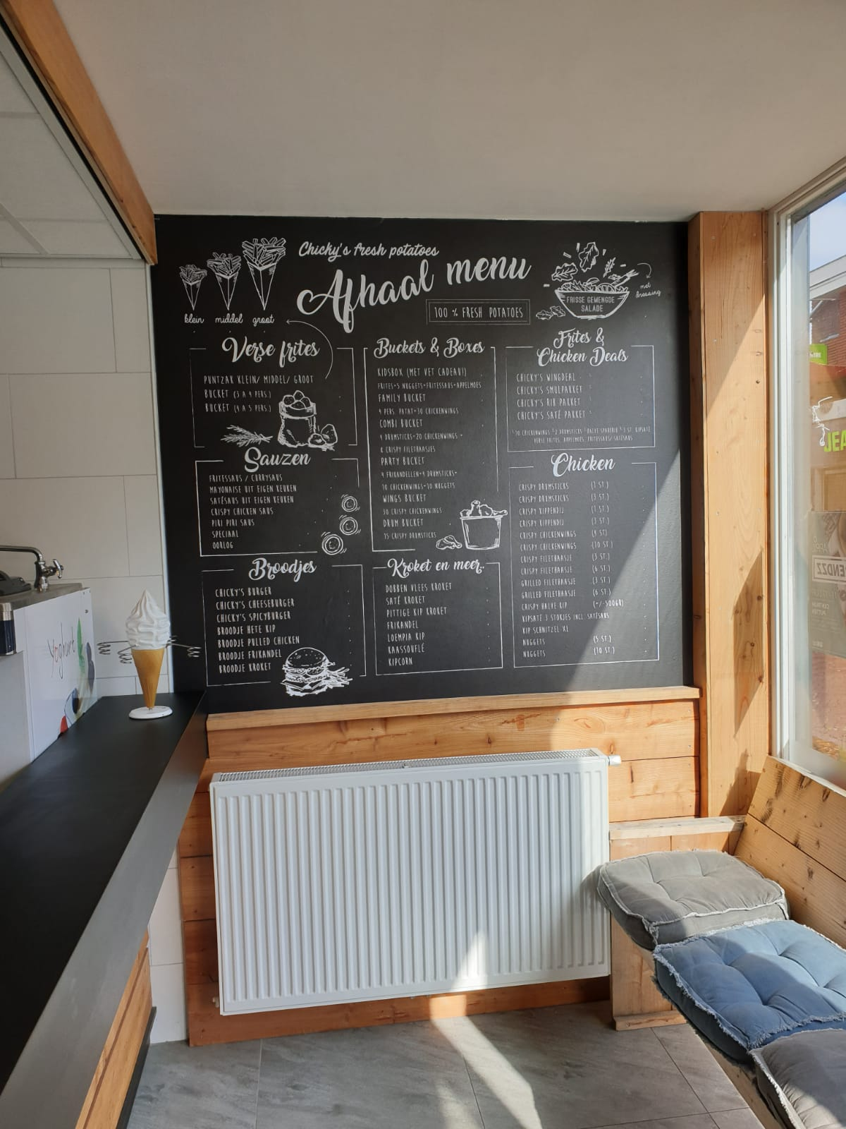 Chalkboard bij Chickies