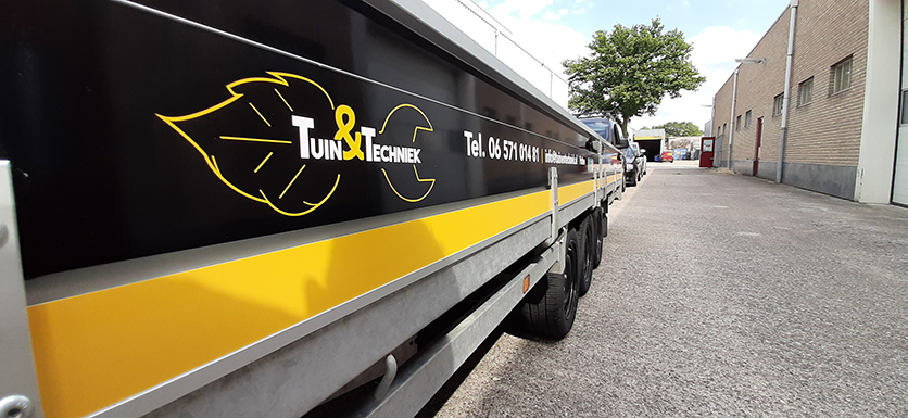 Aanhanger voor Tuin&Techniek