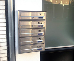 Huisnummers brievenbus