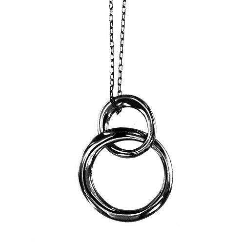 CLPS9112N  Black Rhodium Silver Chain and Pendant