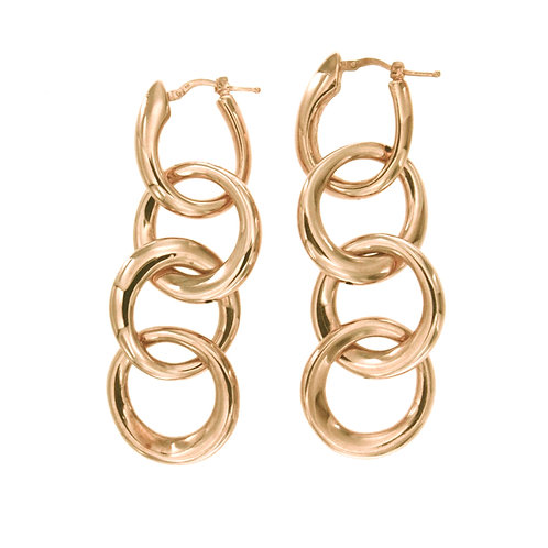 ORPS9086R Golden Rosè Silver Earrings