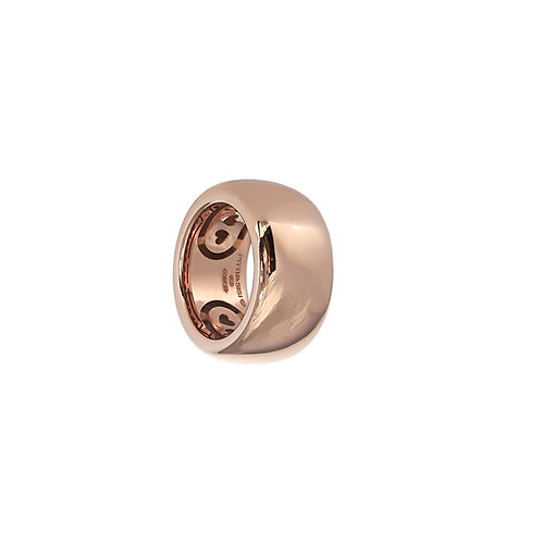 Glossy Golden Rosé Bands from 6 to 14mm H.
