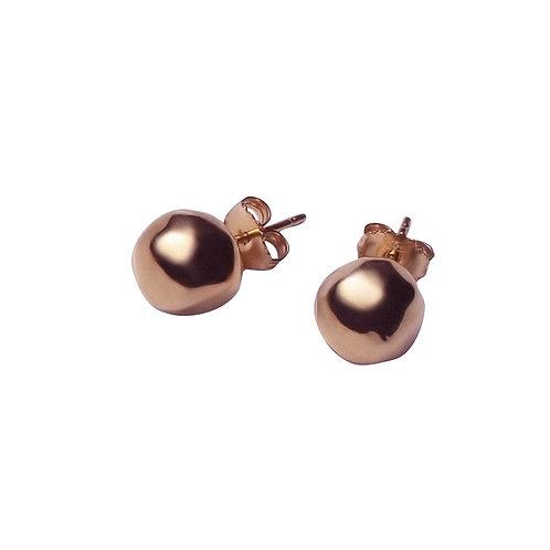 OR8557R Golden Rosè  Ball Earrings