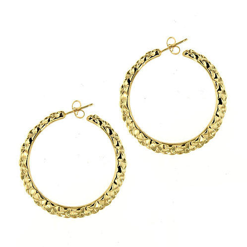 OR5830G - Golden Silver Earrings-Studio 54 Collection