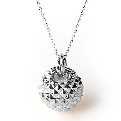 CL5747B-2 LARGE silver chain and pendant in 4 colors