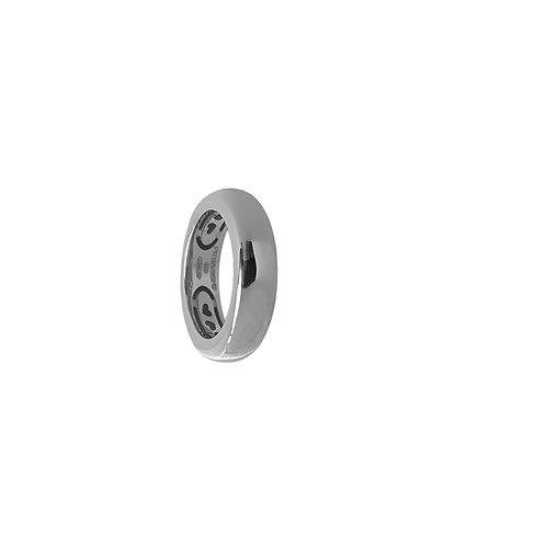 Glossy Rhodium Bands from 6 to 14mm H.