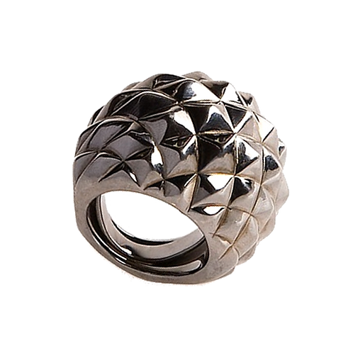 AN5737N-Black Silver Ring-Studio 54 Collection