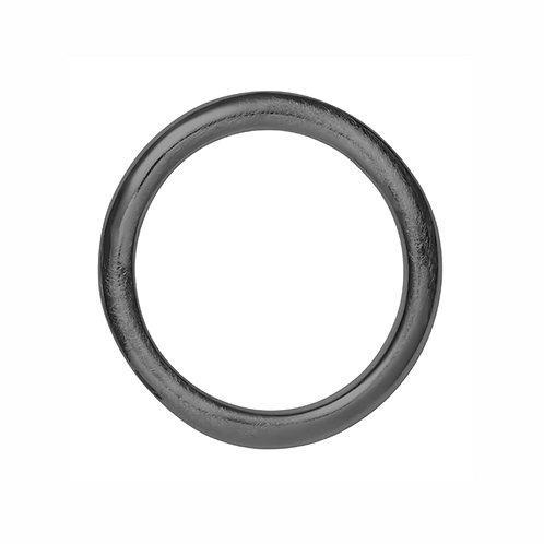 BR4533N Black  Rhodium Silver Bracelet