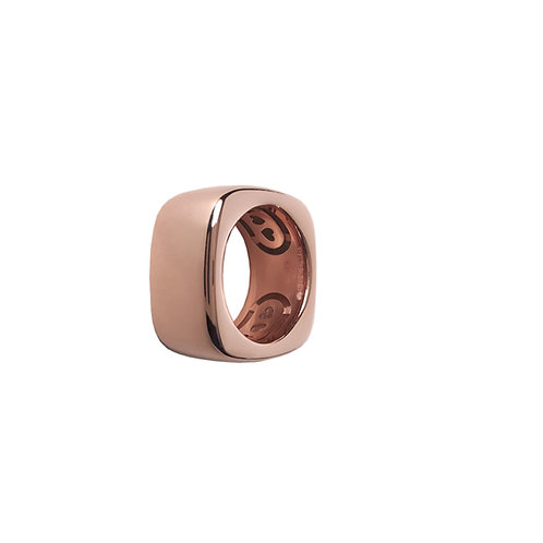 Squared Glossy Golden Rosé Bands from 6 to 14mm H.