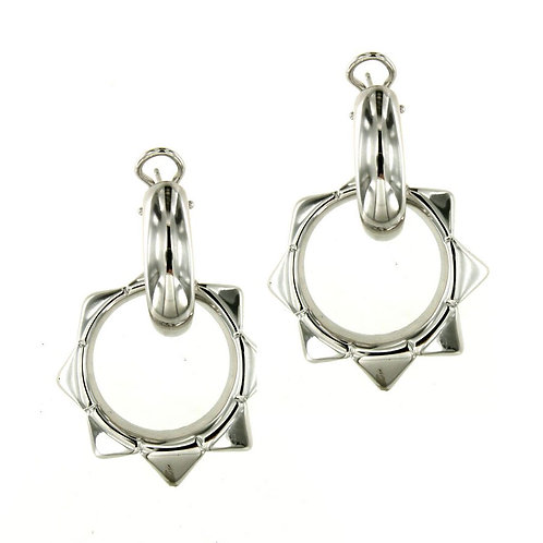 OR9262B Rhodium Silver Earring Studio 54 Collection