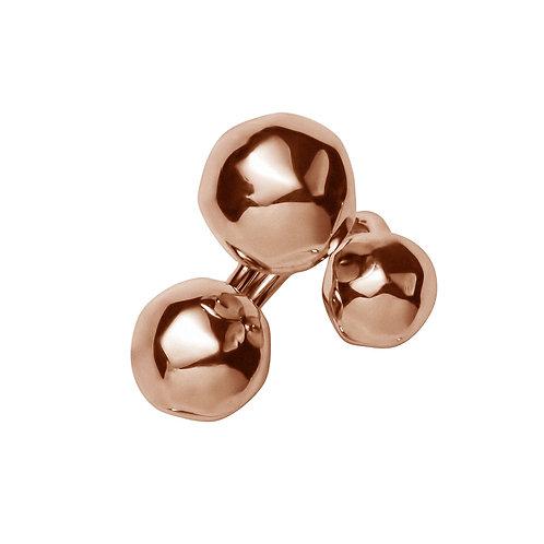 AN8551R Golden Rosè 3 Balls Ring