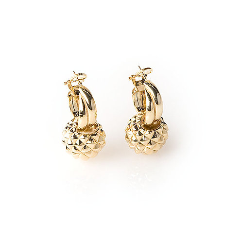 OR5749G PITTIeSISI-Golden Silver Earring Studio 54 Collection