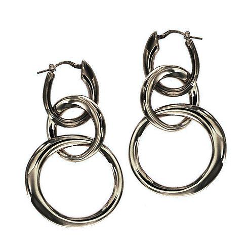 ORPS9085N  Black Rhodium Silver Earrings